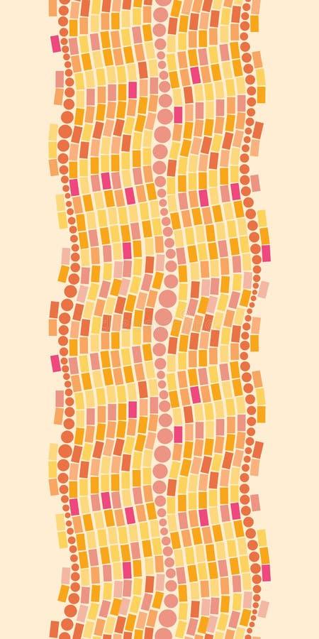 Het brandmozaïek betegelt verticaal naadloos patroon royalty-vrije illustratie