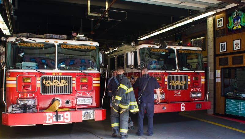 Het Brandweerkorps van New York stock afbeeldingen