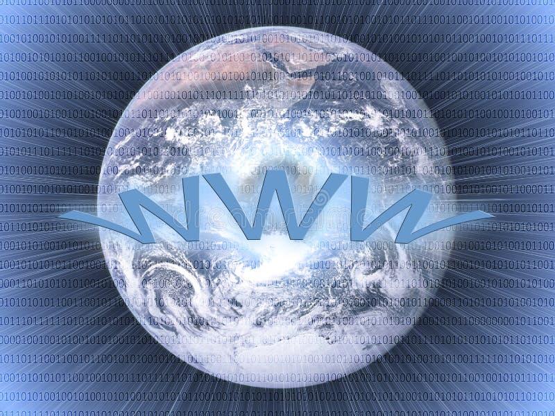 Het brede concept van het wereldWeb vector illustratie