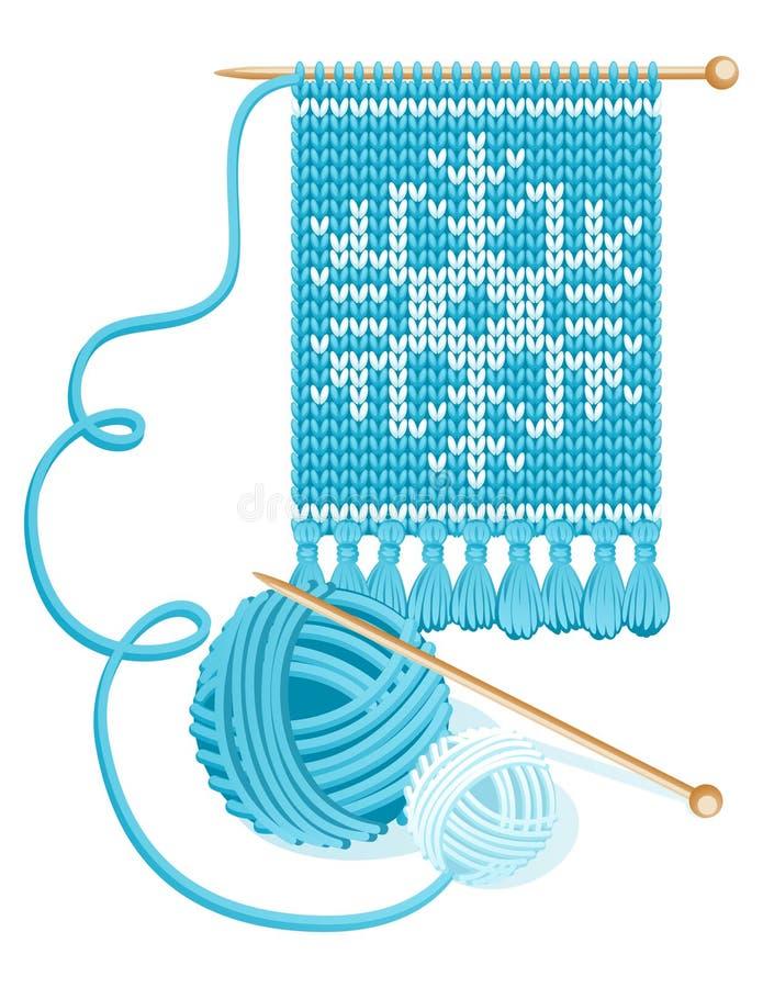 Het breien vector illustratie