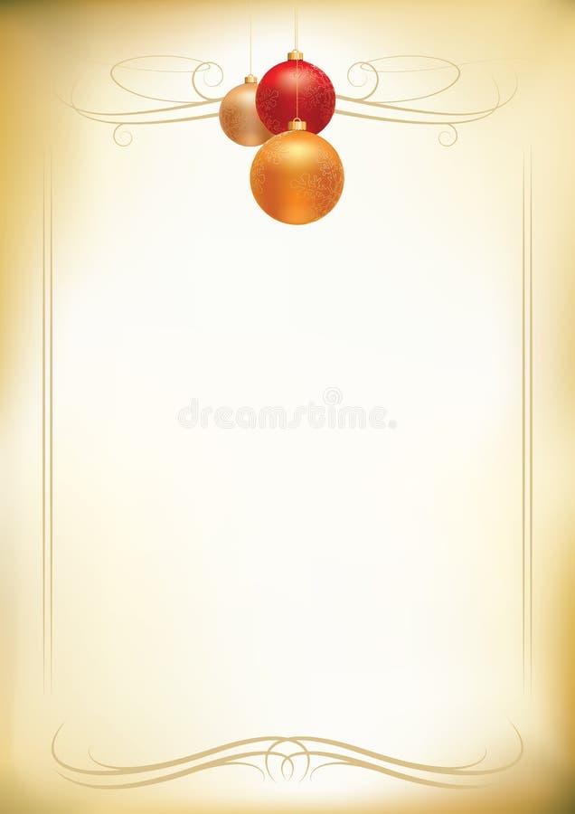 Het briefhoofd van Kerstmis stock illustratie