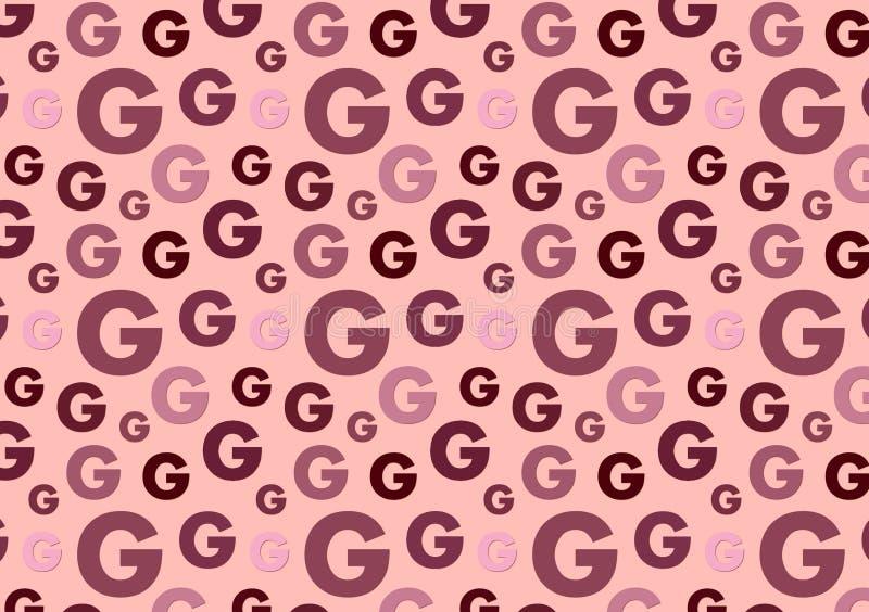 Het brieveng patroon in verschillende kleur stelt patroon in de schaduw vector illustratie