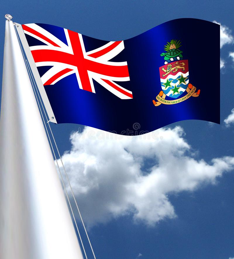 Het Britse Gebied overzee van Caymaneilanden royalty-vrije illustratie