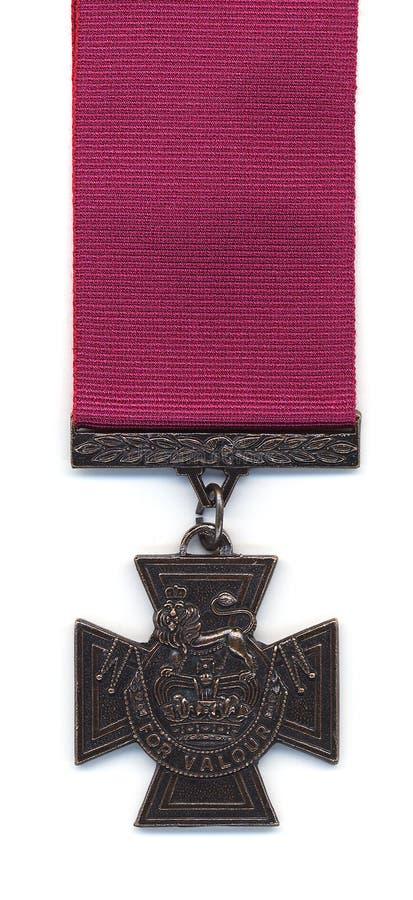 Het Britse Kruis van Victoria - Karmozijnrood Lint royalty-vrije stock afbeelding