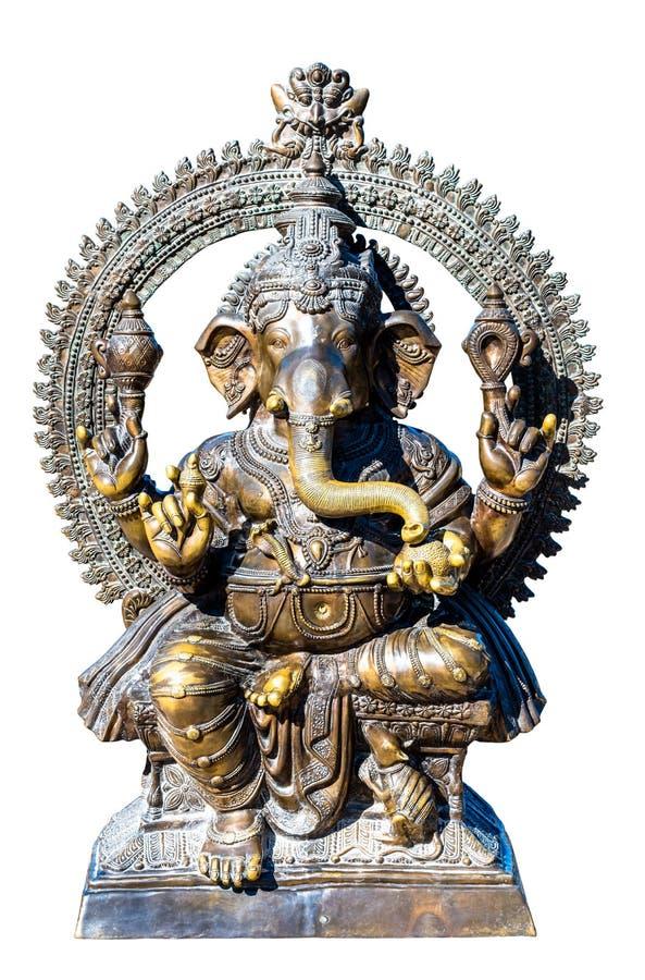 Het bronsbeeldhouwwerk van godsganesh stock afbeeldingen
