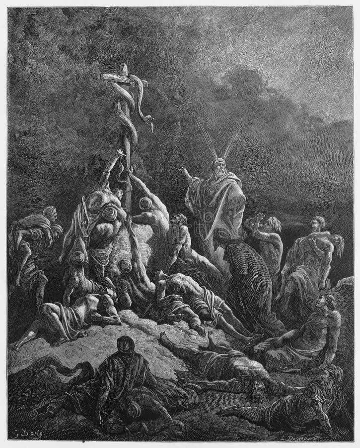 Het Bronsserpent stock illustratie