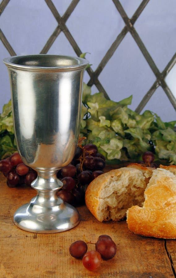Het Brood en de Wijn van de Heilige Communie royalty-vrije stock afbeelding
