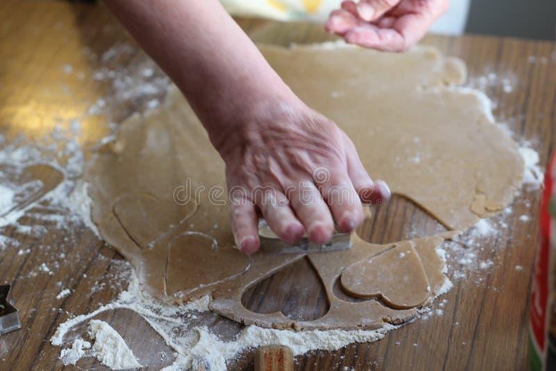 Het brood van de bakselgember voor Kerstmis royalty-vrije stock afbeeldingen