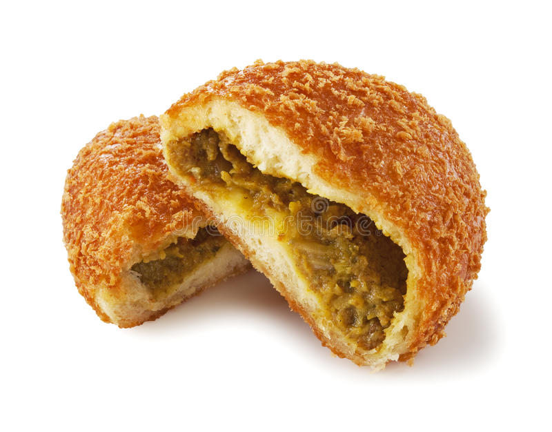 Het brood van de kerrie stock afbeeldingen