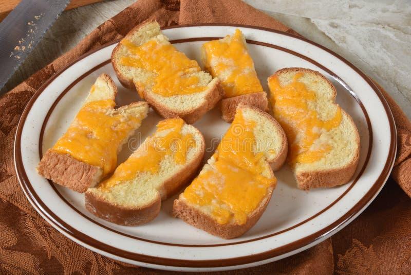 Het brood van de knoflookkaas royalty-vrije stock foto's