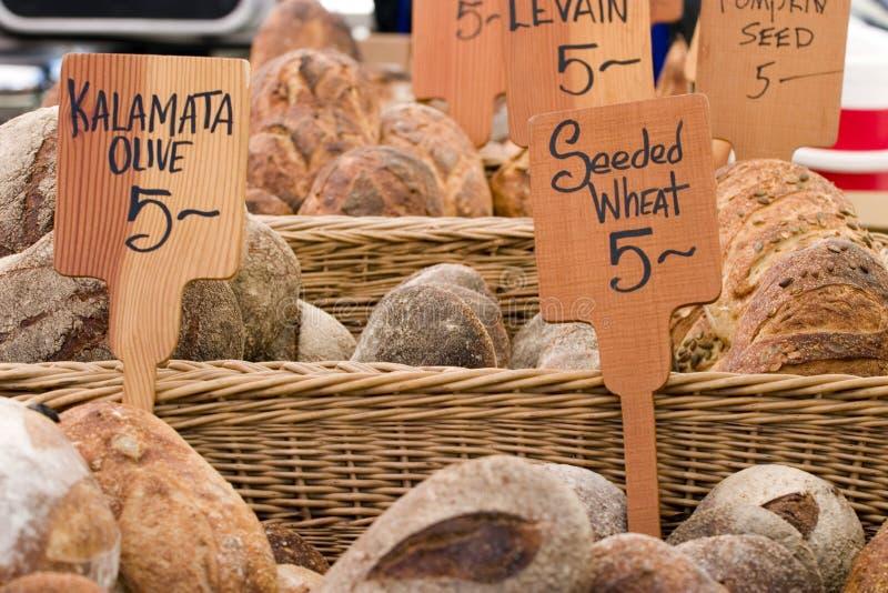 Het Brood van de Markt van de landbouwer royalty-vrije stock afbeelding