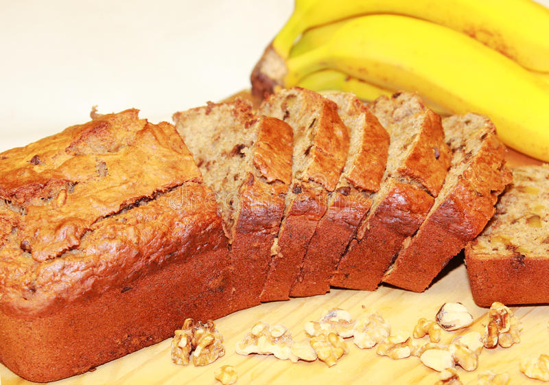 Het Brood van de Noot van de banaan stock afbeelding