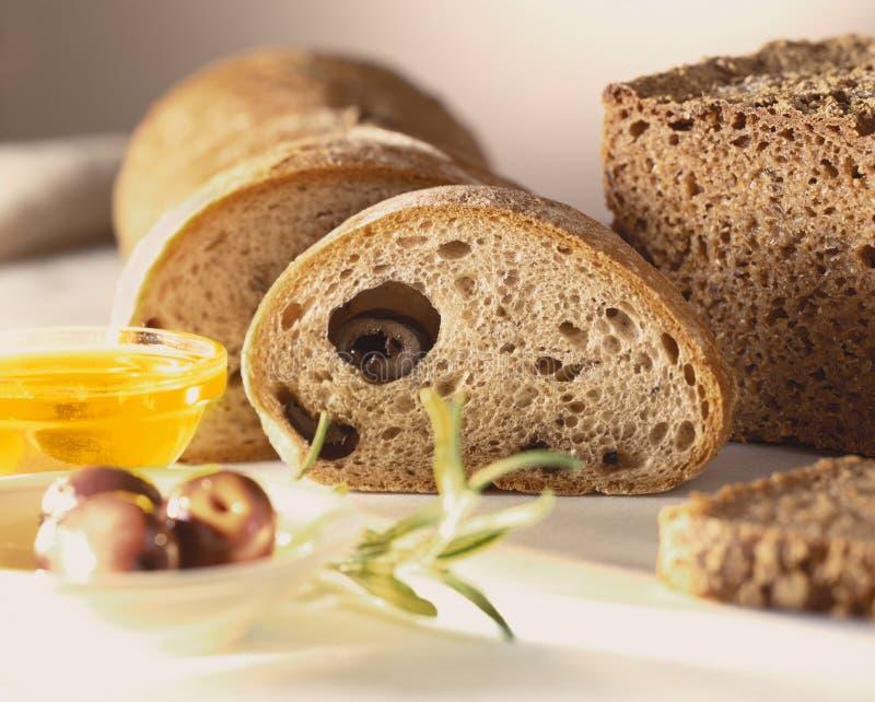 Het brood van de olijf royalty-vrije stock foto
