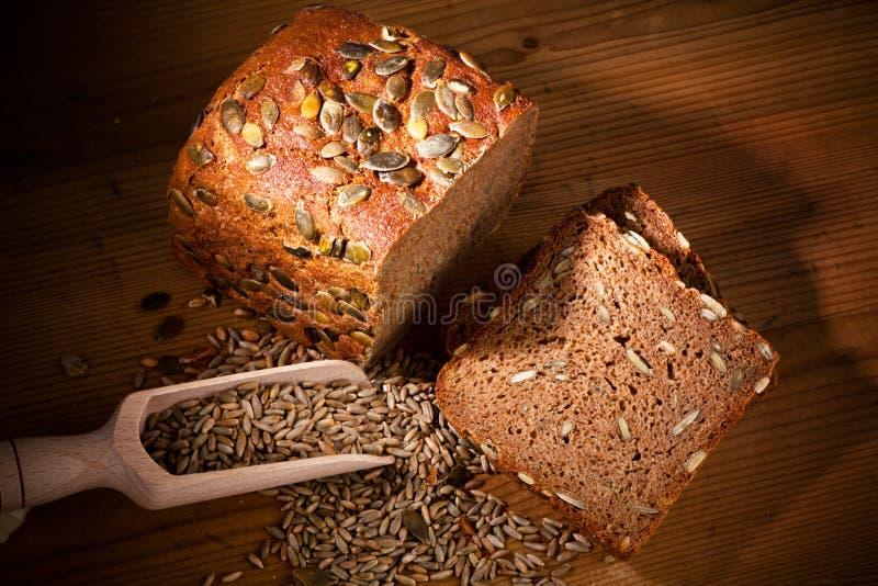 Het brood van de pompoen stock foto's
