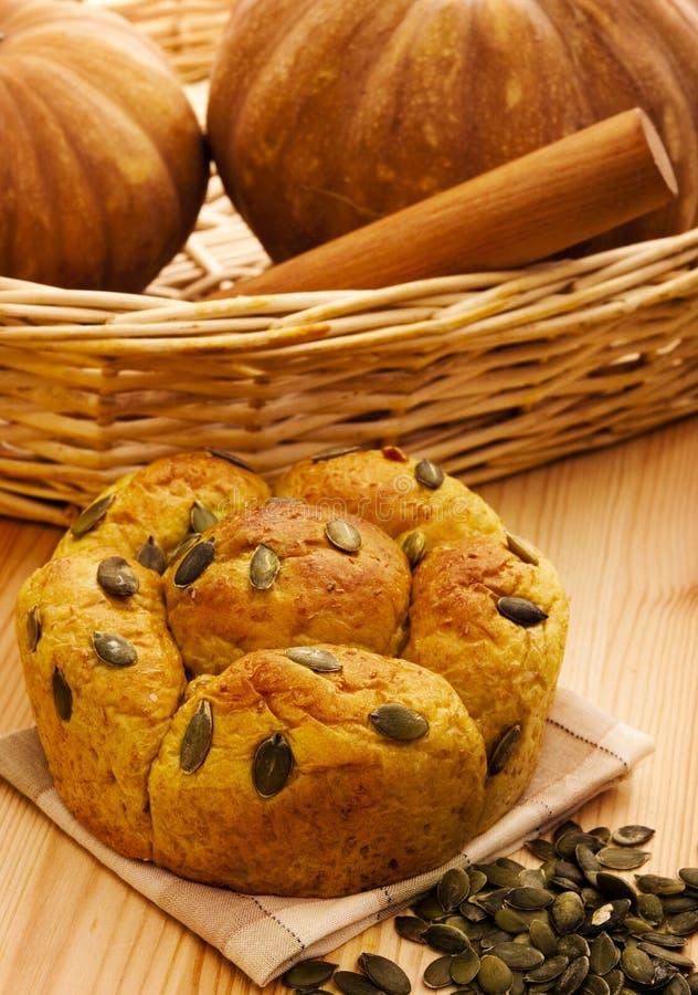Het brood van de pompoen royalty-vrije stock afbeeldingen