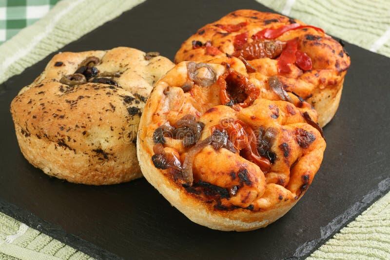 Het brood van Focaccia stock foto's