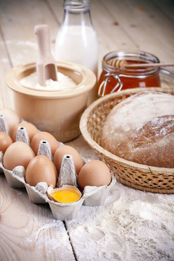 Het brood van het baksel! stock foto's
