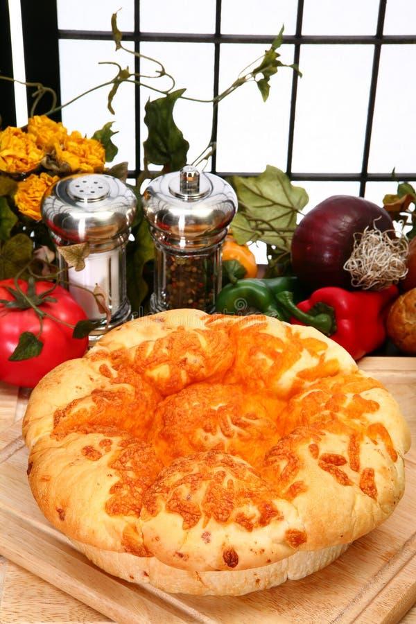 Het Brood van het Broodje van de Kaas van de cheddar royalty-vrije stock afbeelding
