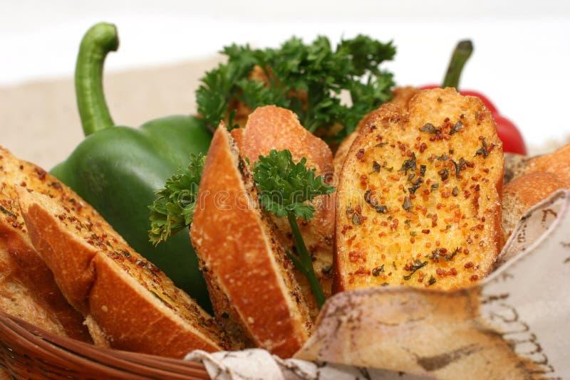 Het Brood van het knoflook stock afbeelding