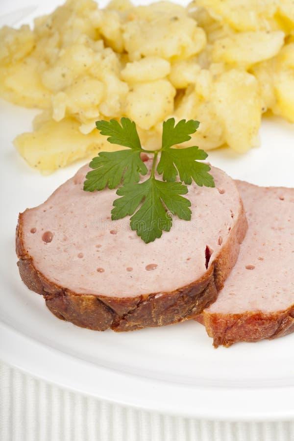 Het brood van het vlees royalty-vrije stock foto's