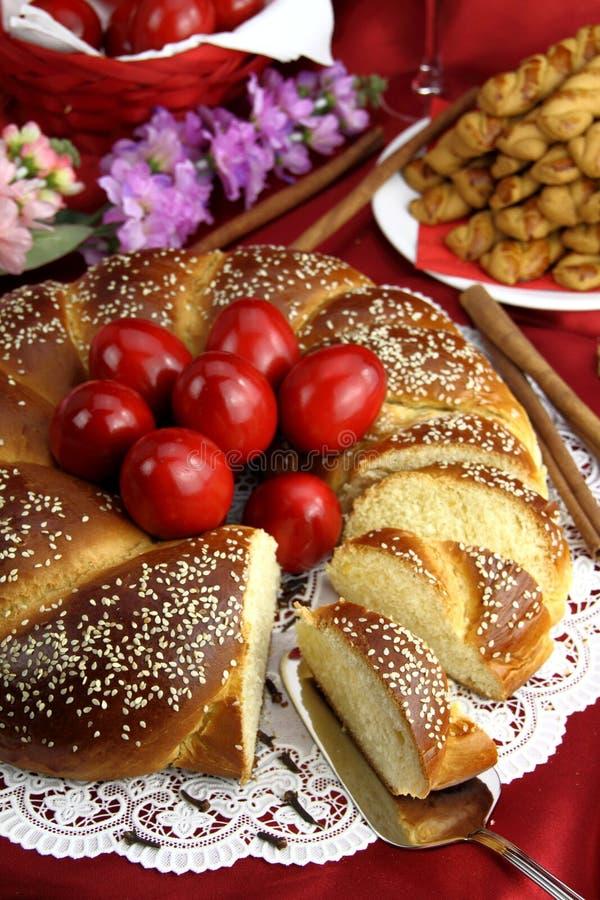 Het brood van Pasen stock afbeeldingen