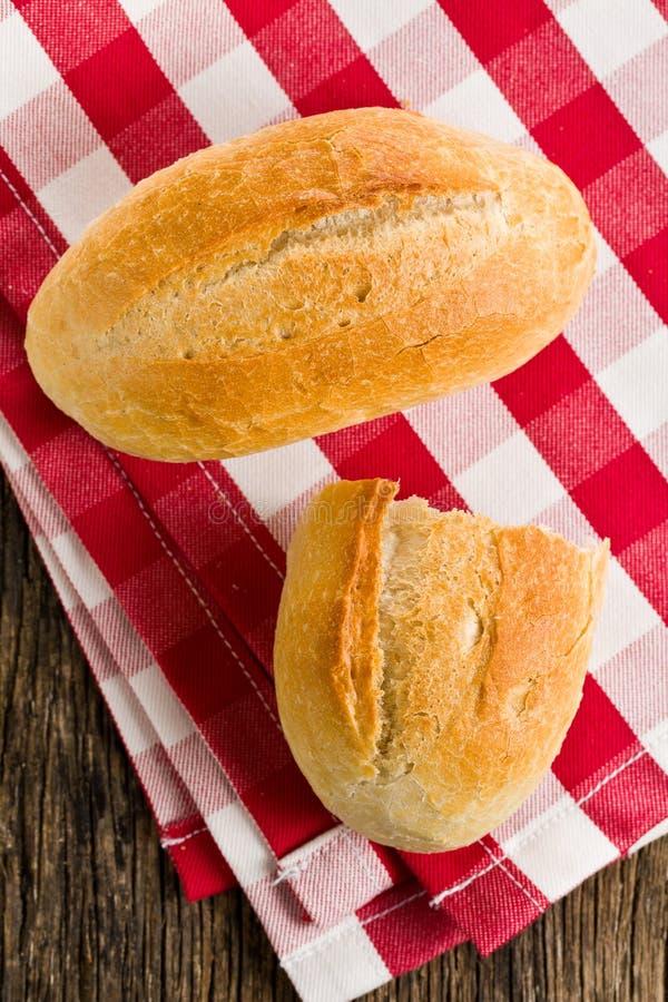 Het Broodje Op Geruit Servet Royalty-vrije Stock Foto's
