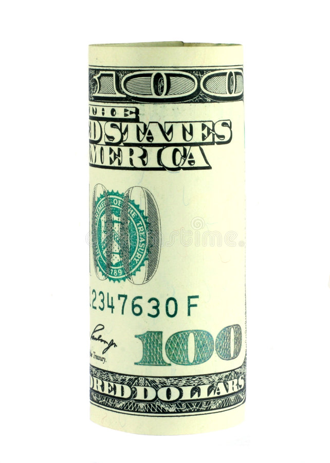 Het Broodje Van De Honderd Dollarrekening Royalty-vrije Stock Foto