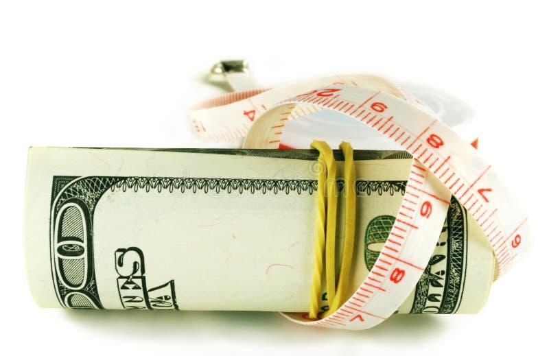 Het broodje van de honderd dollarrekening - de dollar groeit dun