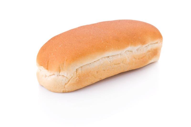 Het broodje van de hotdog dat op wit wordt geïsoleerd royalty-vrije stock foto