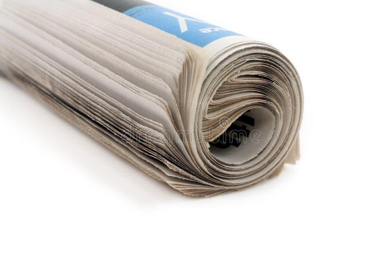 Het broodje van de krant stock afbeelding
