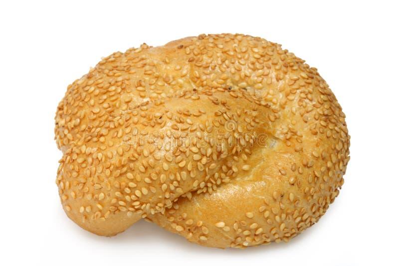 Het broodje van de sesam stock foto's