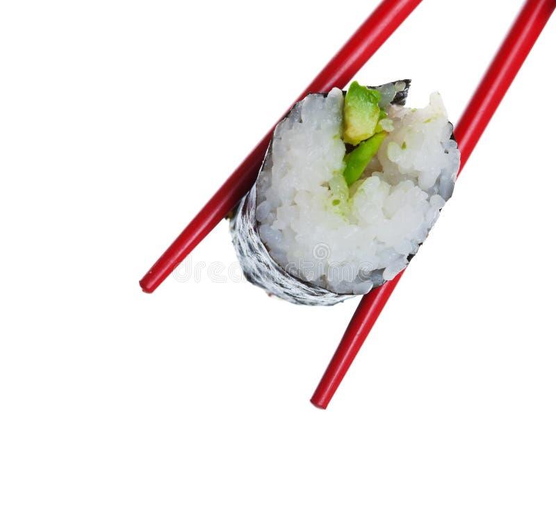 Het Broodje van de Sushi van de avocado royalty-vrije stock afbeelding