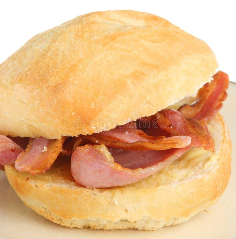 Het Broodje van het bacon stock fotografie