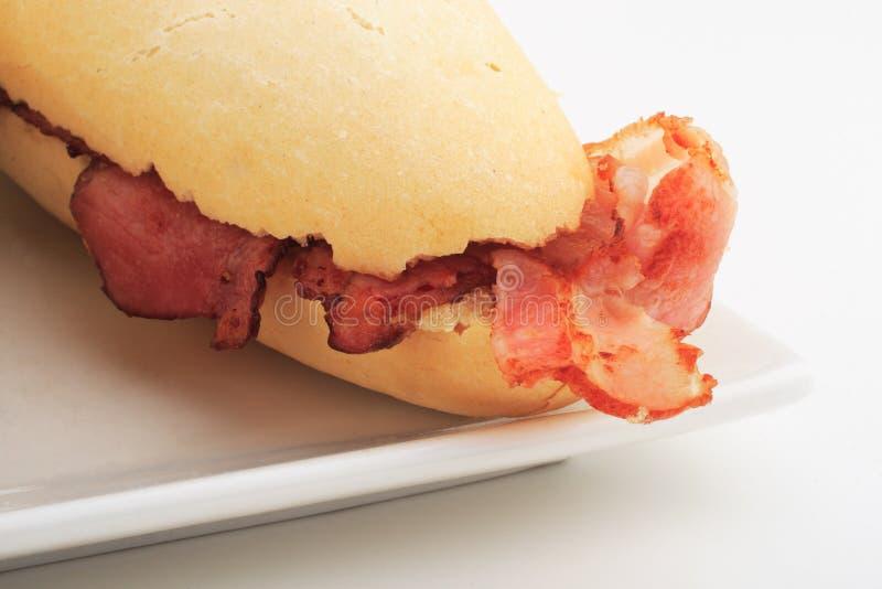 Het broodje van het bacon stock afbeeldingen