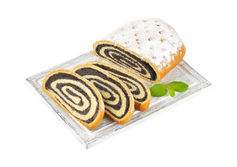 Het broodje van het papaverzaad stock foto's