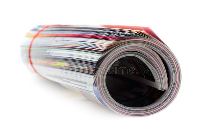 Het Broodje van het tijdschrift (dat op wit wordt geïsoleerde) royalty-vrije stock afbeelding