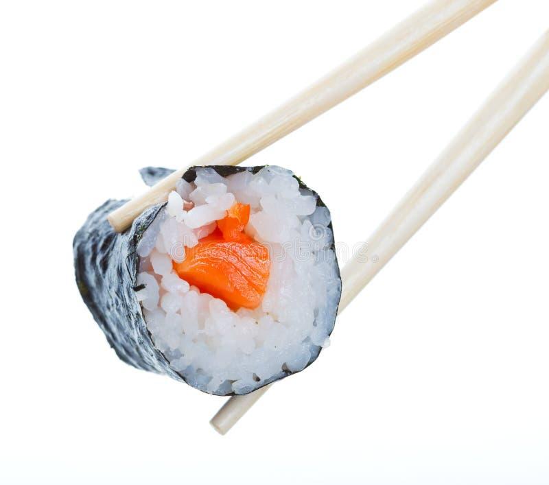 Het broodje van sushi stock afbeeldingen