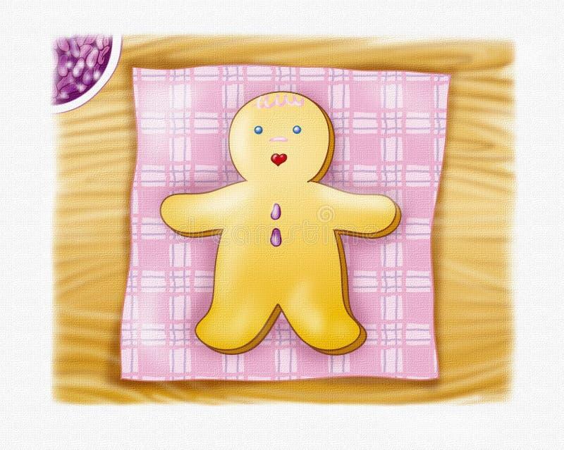 Het broodjongen van de gember vector illustratie