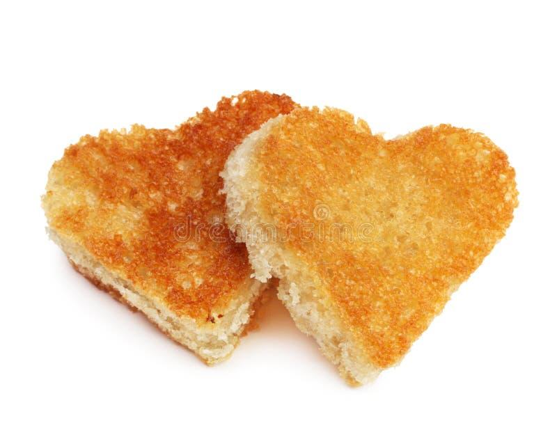 Het broodtoost van het hart royalty-vrije stock foto's