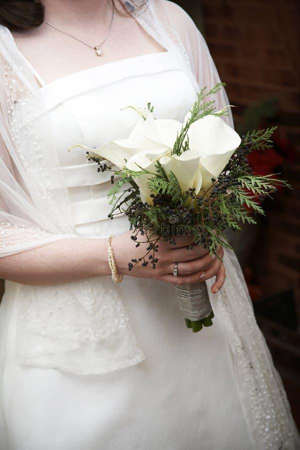 Het bruids Boeket van het Huwelijk royalty-vrije stock fotografie