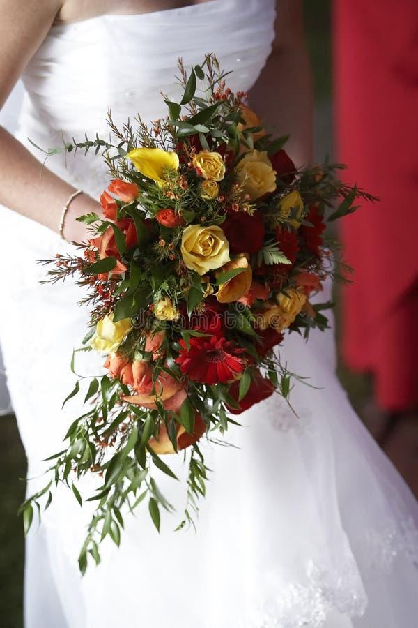 Het bruids Boeket van het Huwelijk royalty-vrije stock afbeeldingen