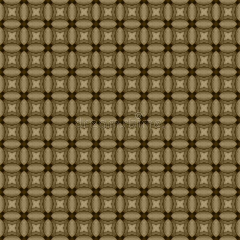 Het bruine geometrische mozaïek detailleerde naadloze geweven patroonachtergrond vector illustratie