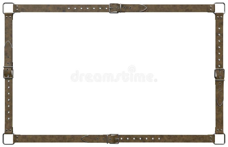 Het bruine kader van de leerriem royalty-vrije stock foto's