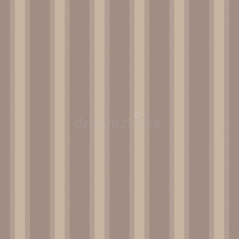 Het bruine lichte donkere gestreepte verticale retro uitstekende behang van de koffiekleur vormde document het linnenjute die van royalty-vrije illustratie