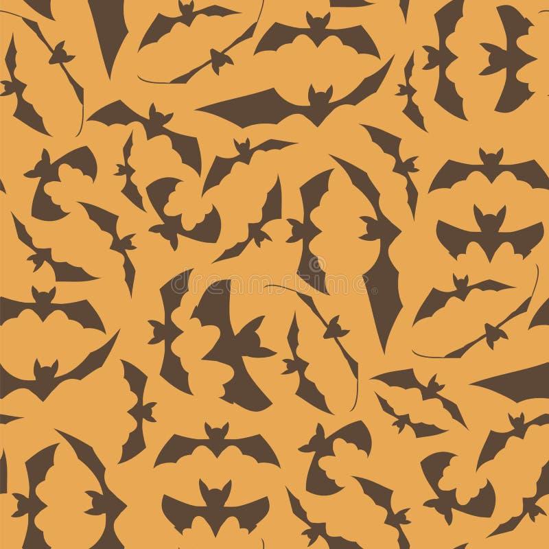 Het bruine Naadloze Patroon van de Beeldverhaalknuppel royalty-vrije illustratie
