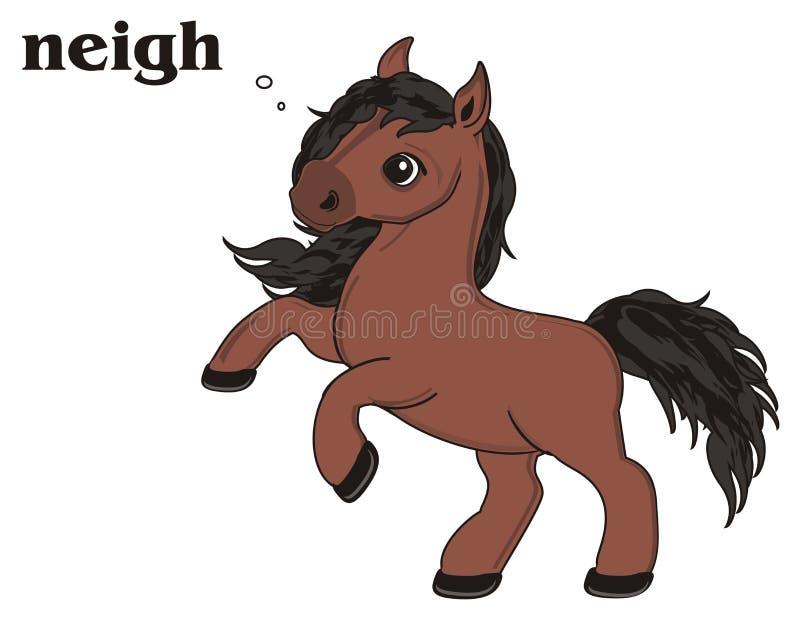Het bruine paard spreken vector illustratie