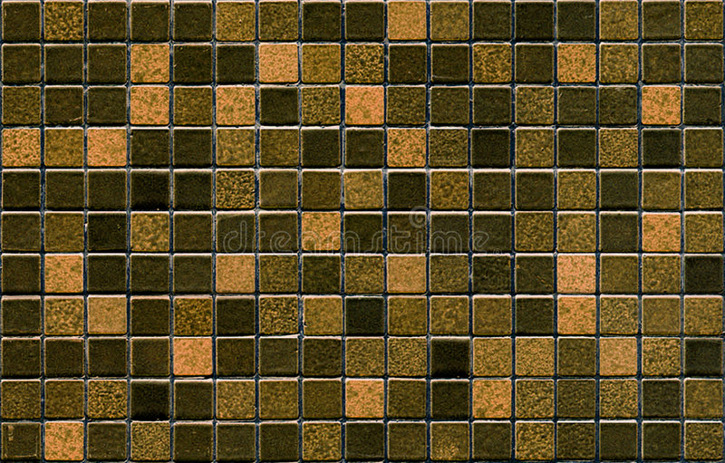 Het bruine patroon van de mozaïektegel stock foto's