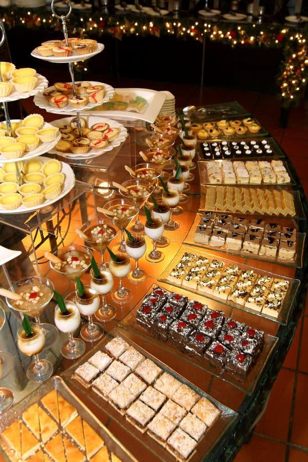 Het Buffet van de Hoek van het dessert stock afbeelding