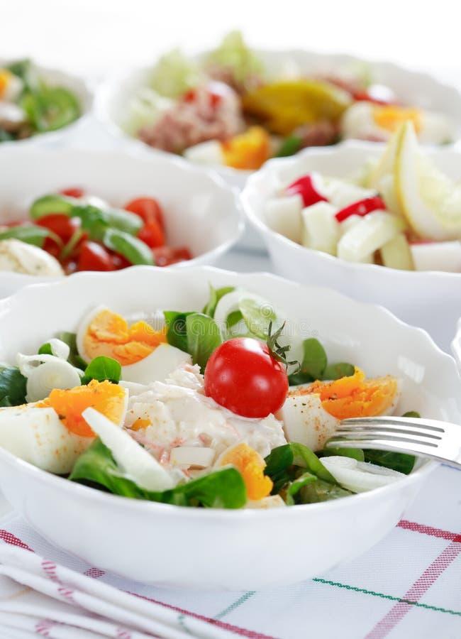 Het buffet van de salade royalty-vrije stock afbeelding