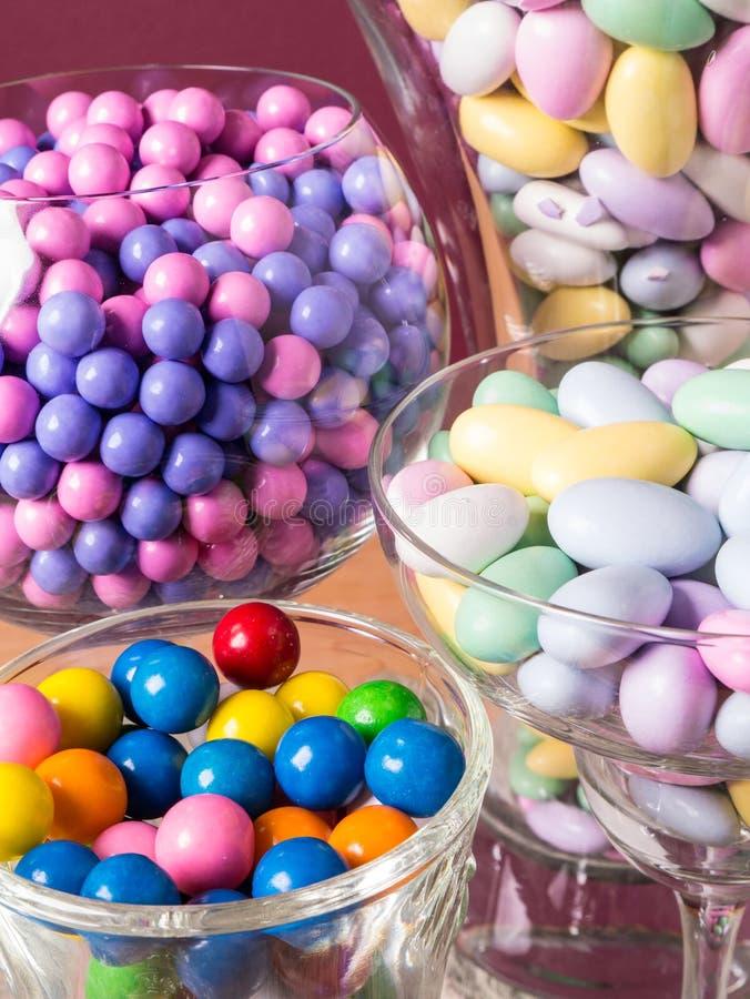 Het Buffet van het suikergoed en de Close-up van de Lijst van de Woestijn stock afbeelding